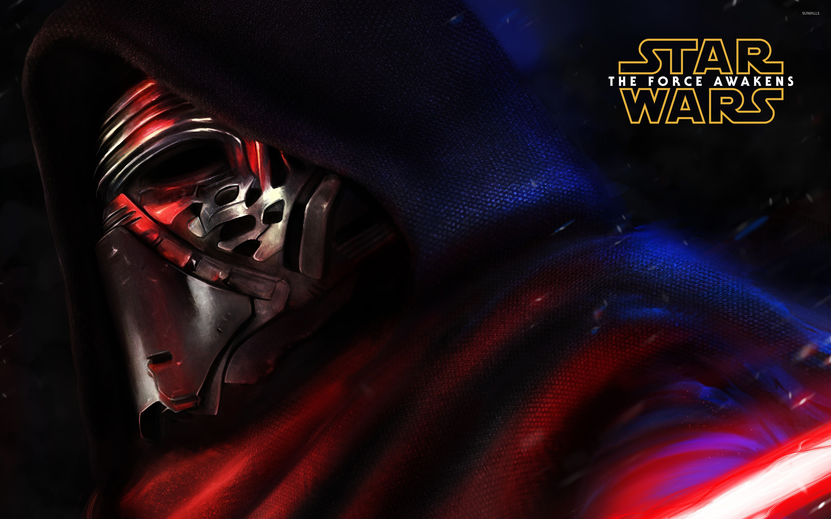 Kylo Ren close up   Star Wars The Force Awakens wallpaper   Movie 1366x768