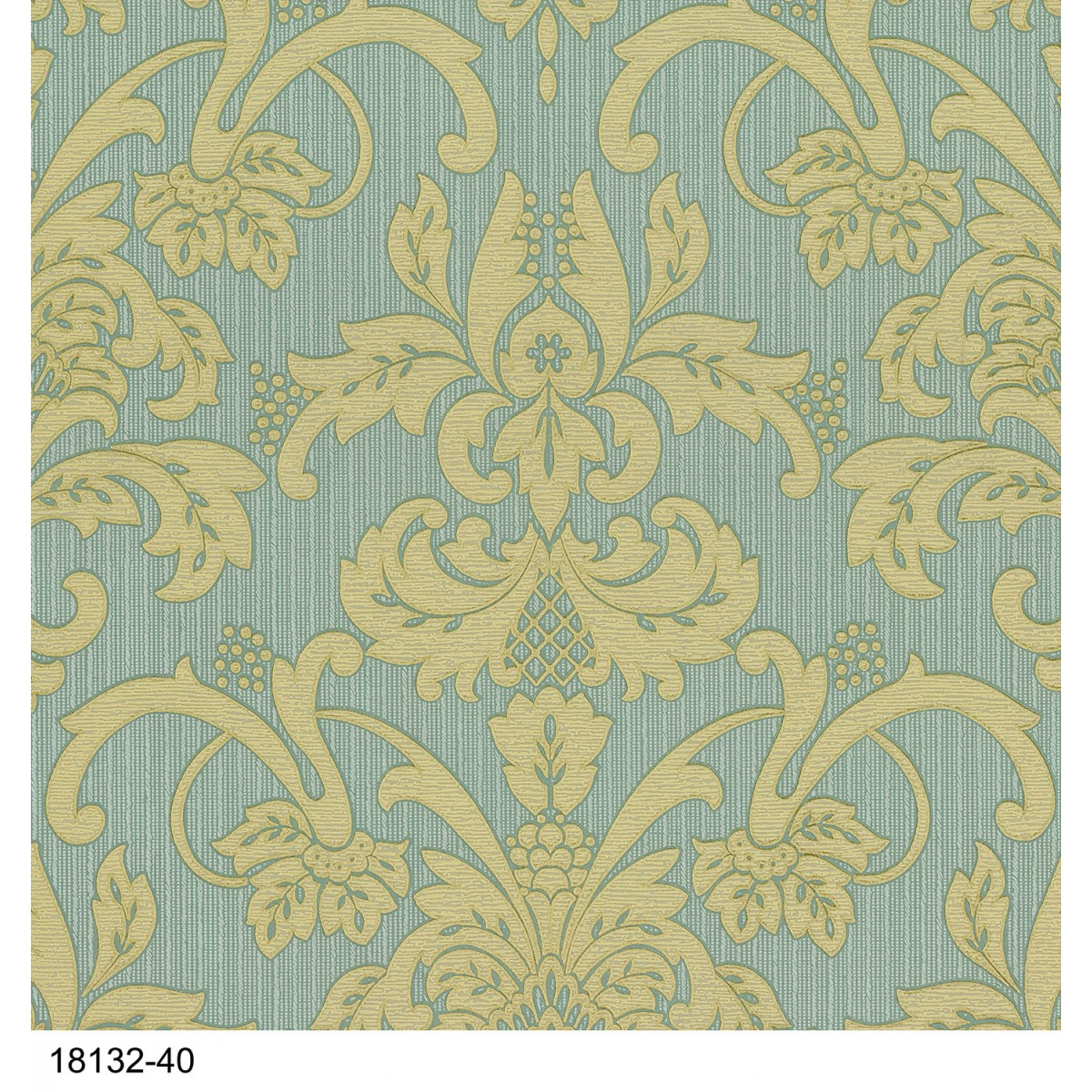 Brand PS International Claremont Blue and Gold Damask Wallpaper 1200x1200
