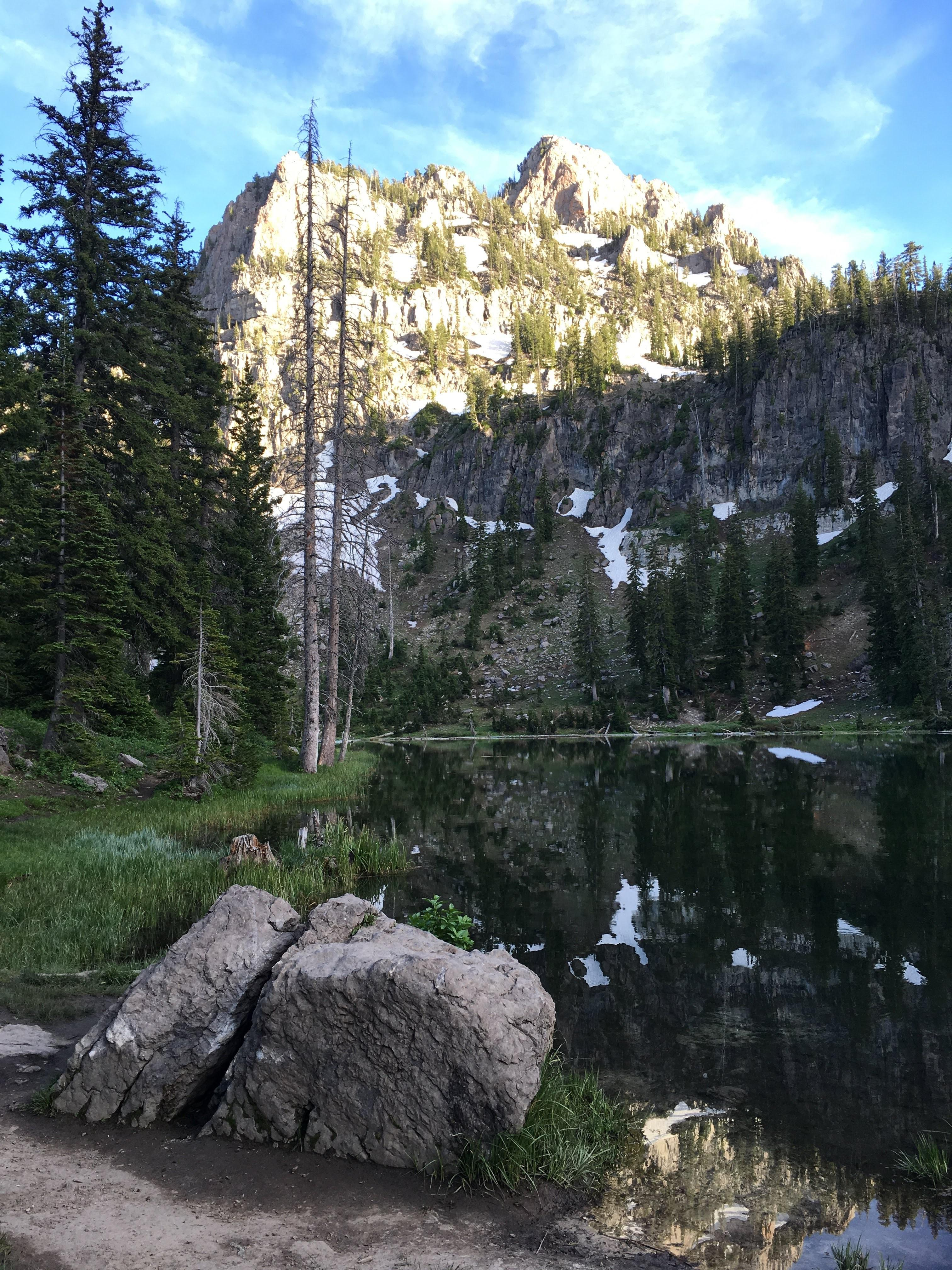 White Pine Lake Utah HD wallpaper 3024x4032