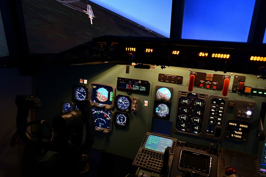 HD wallpaper simulator aviation the md 80 dc 9 the cockpit 910x607
