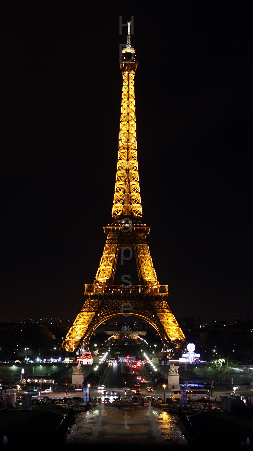 Ultra HD 4K Video Time Lapse Stock Footage   Eiffel Tower in Paris 1080x1920