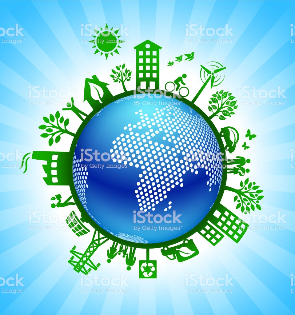 Africa On Green Environmental Conservation Background Stock Vector 959x1024