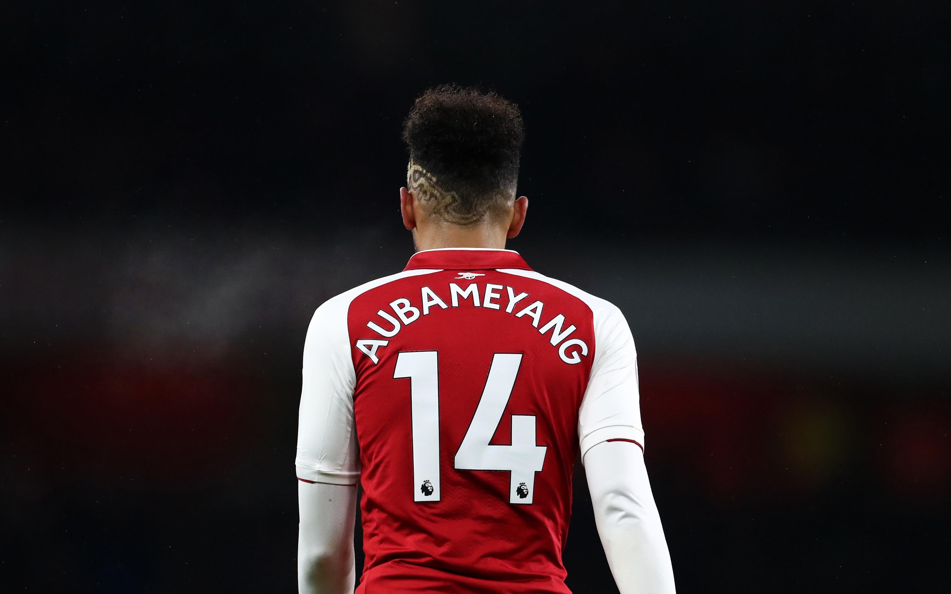 Download wallpapers Pierre Emerick Aubameyang 4k Arsenal soccer 3840x2400