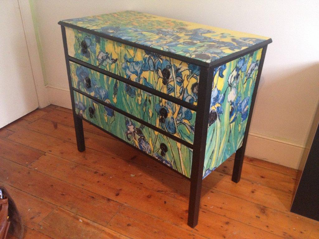 Decoupage Furniture Van Gogh Irises Chest 3 by Nova Lorsten on 1024x768