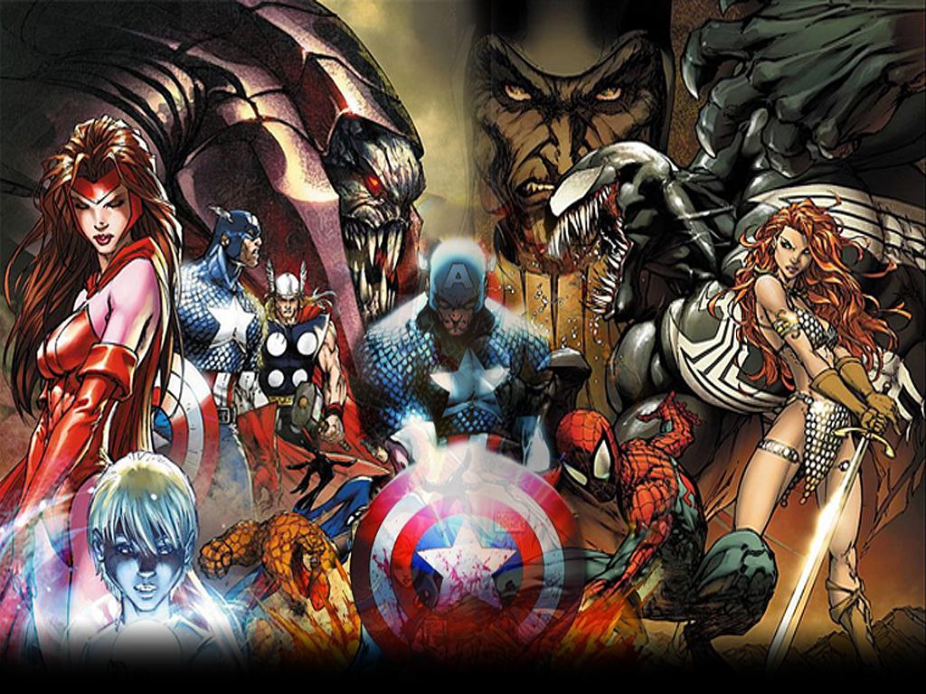Marvel Desktop Background by badbhoy666 1024x768