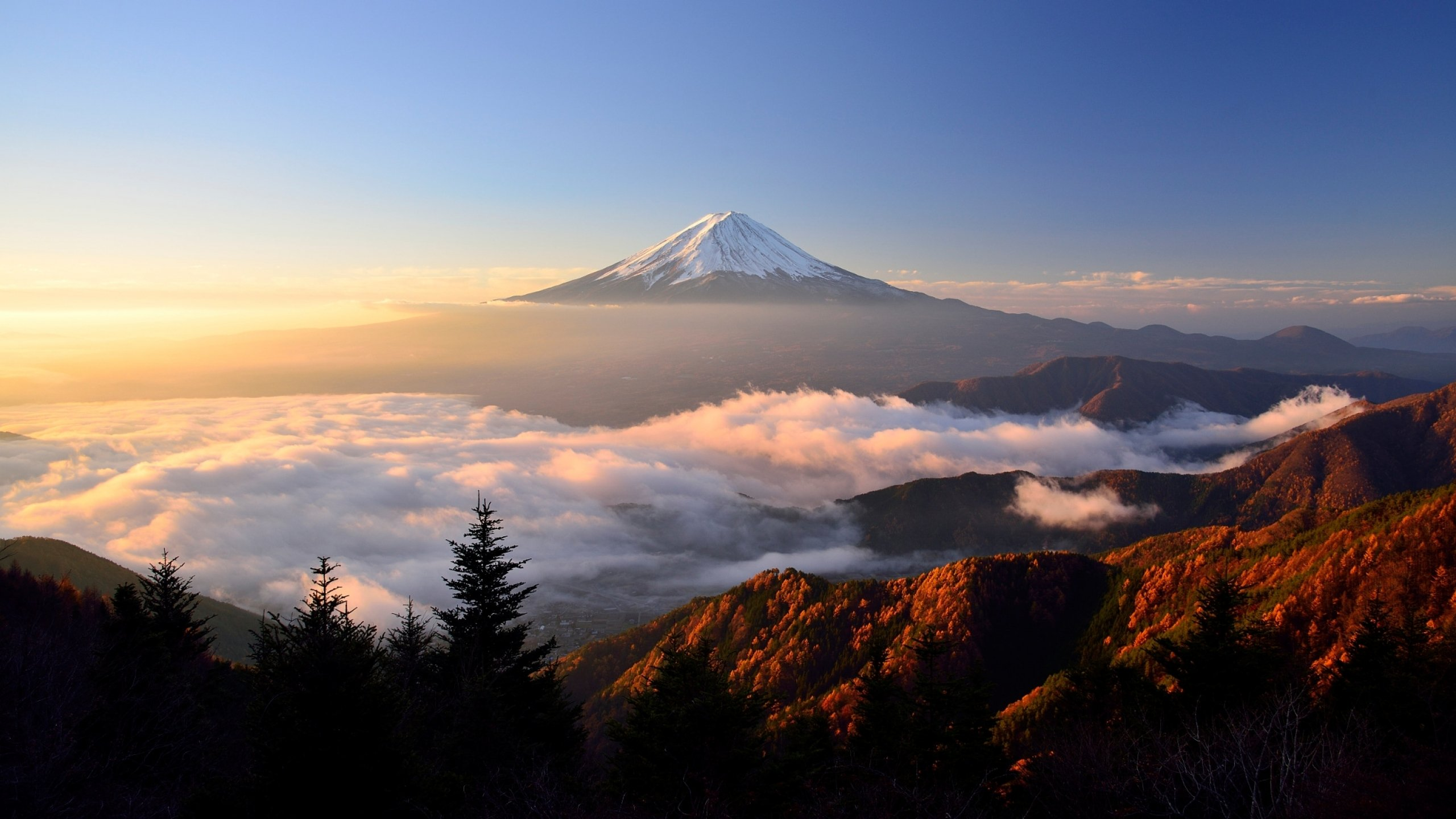 Mount Fuji [2560x1440] wallpapers 2560x1440