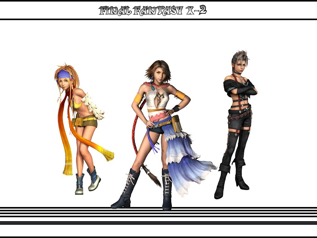 Main Playable Characters   Final Fantasy X 2 1024x768
