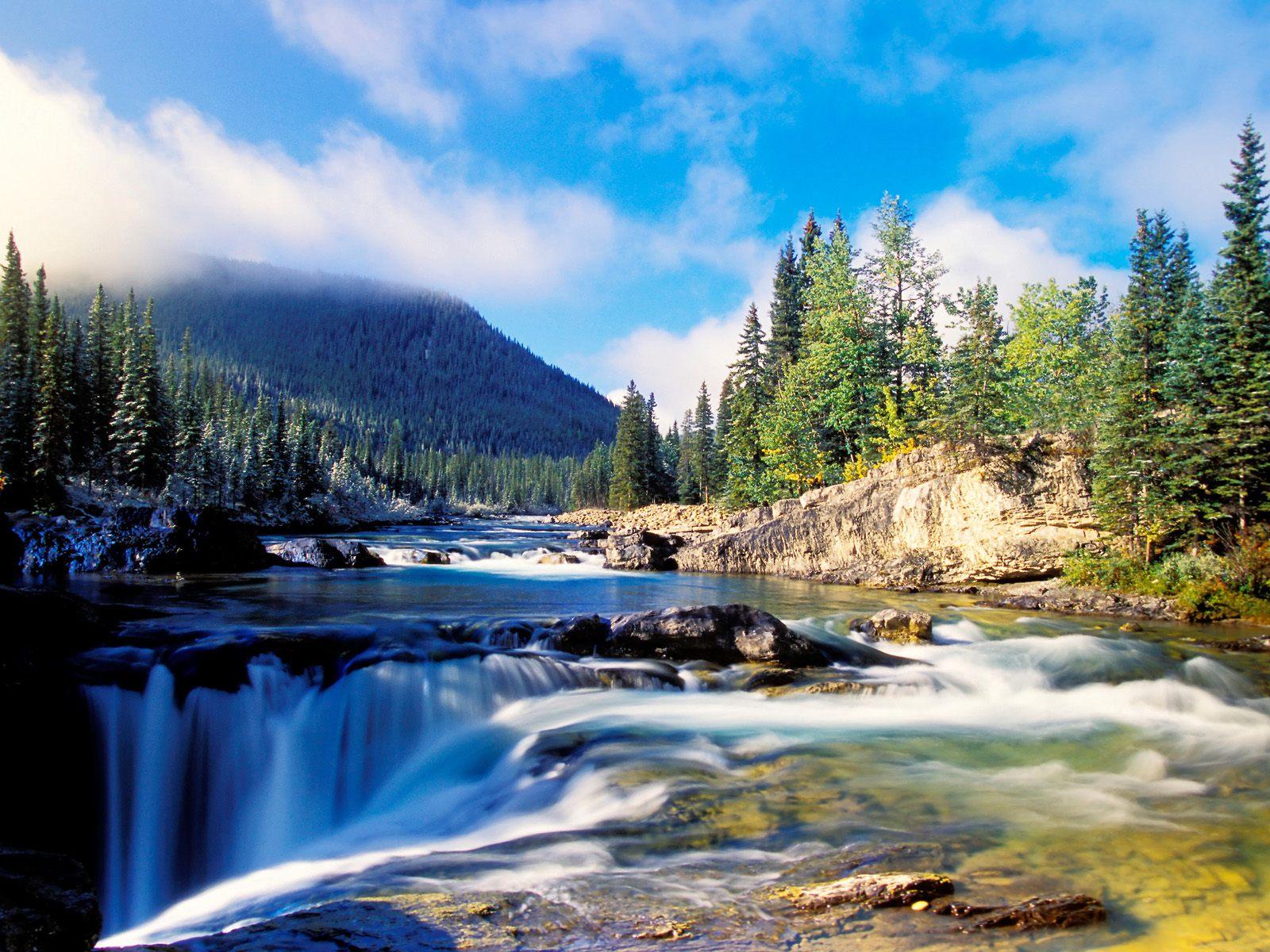 Falls Kananaskis Country Alberta Canada Wallpaper   HQ Wallpapers 1600x1200