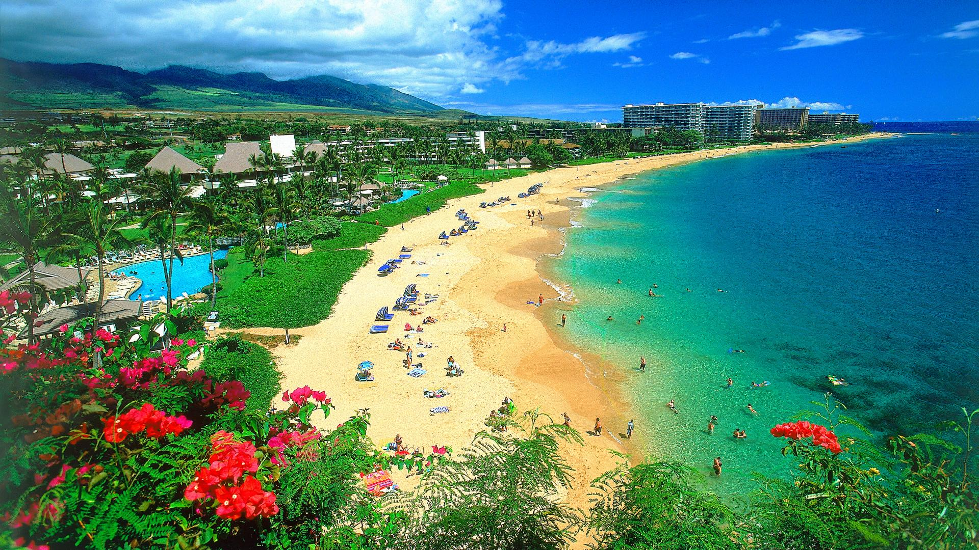Beach Desktop Backgrounds and Wallpaper   Kaanapali Beach Maui 1920x1080