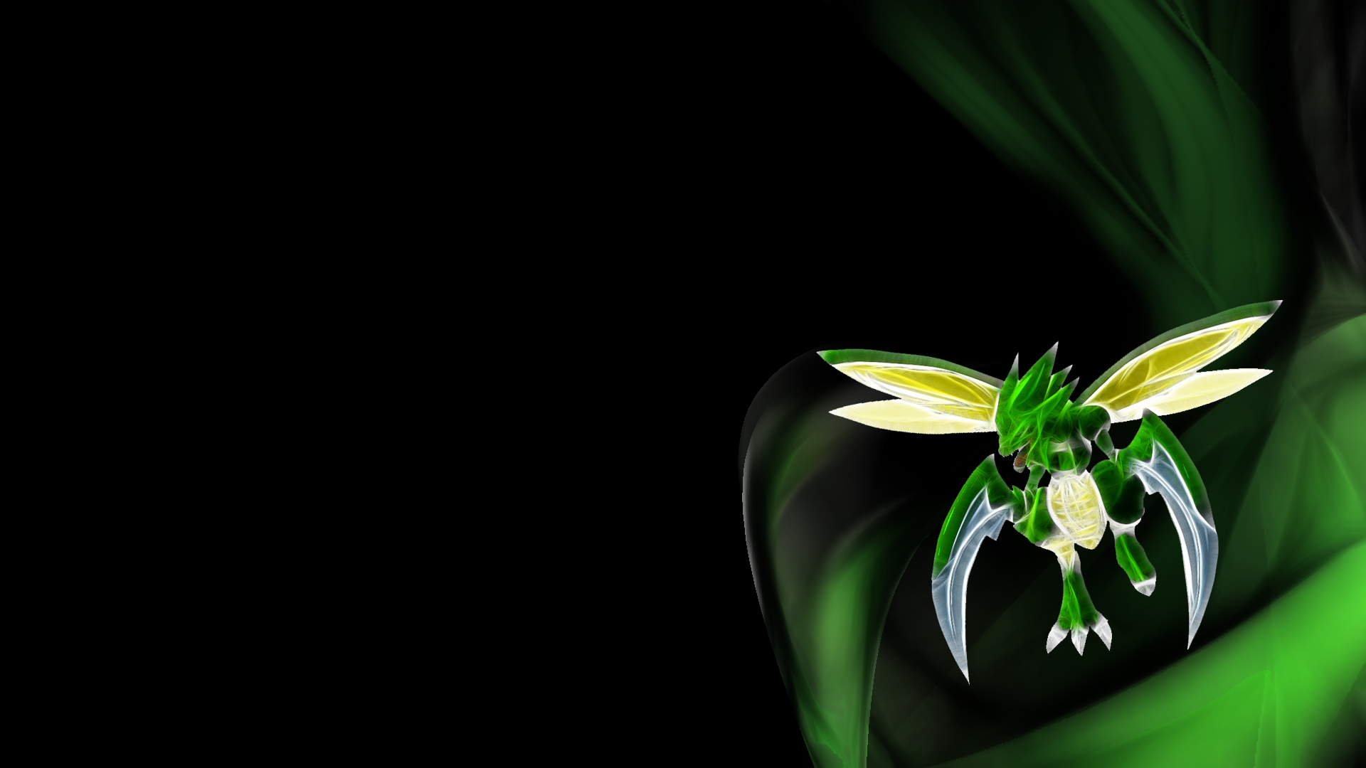 Pokemon Scyther Wallpaper 1920x1080 Pokemon Scyther Black 1920x1080