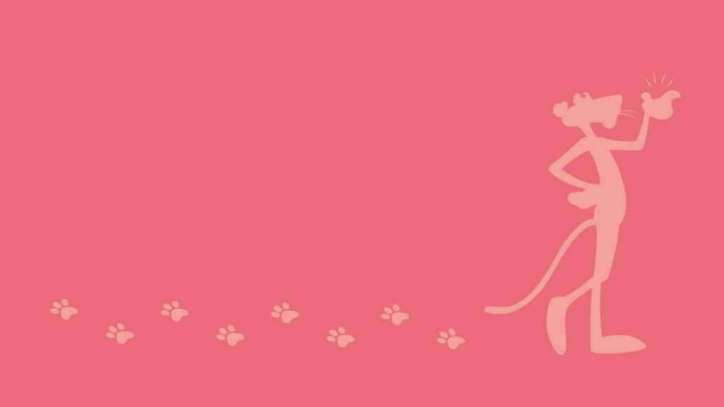 Minimalist Wallpaper   The Pink Panther by FlameBlazeGX 1024x576