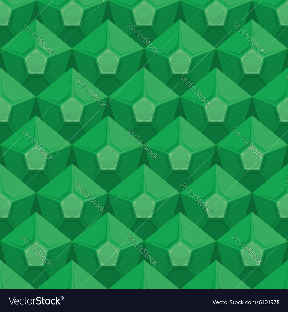 Emerald seamless texture Gem background Green Vector Image 1000x1080