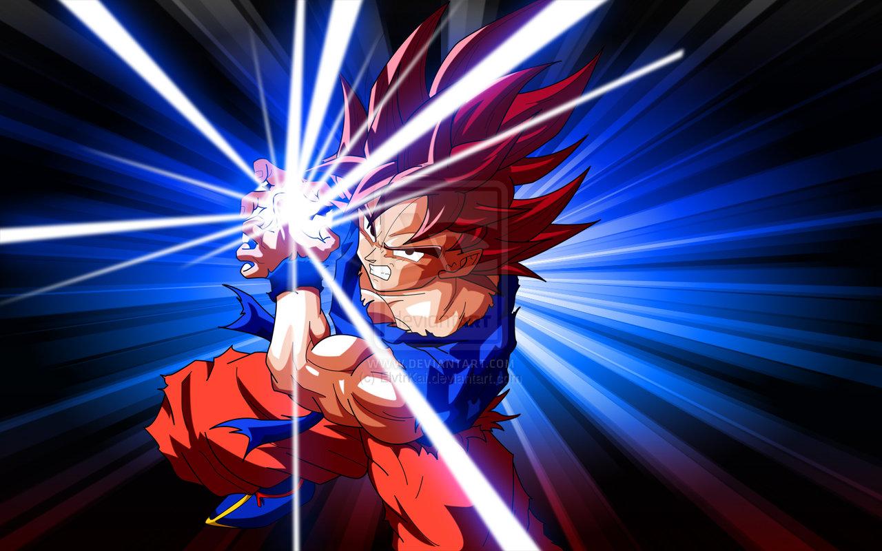 download Goku Kaioken Kamehameha by ElvtrKai [1280x800] for 1280x800