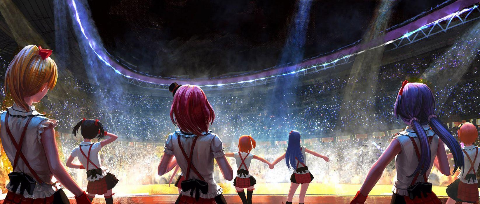 Anime series group girls characters love live school idols music 1645x700