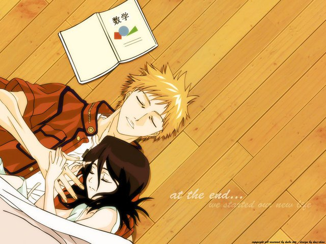 Couples sleeping together anime Hugging Cute