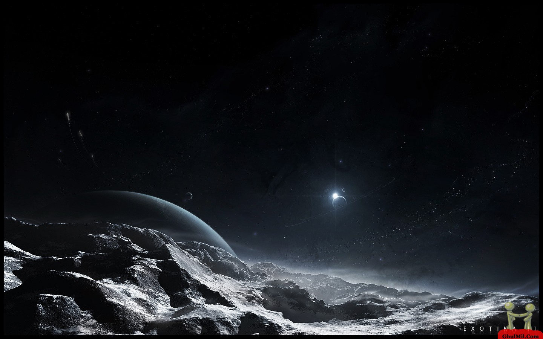 3D Mountain Night View Wallpaper ghulmilcom 1440x900