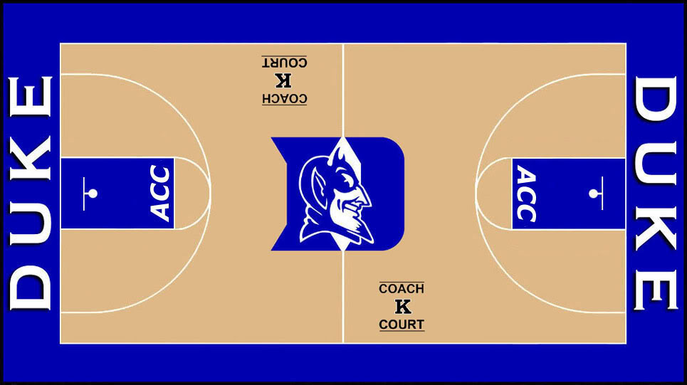 Duke Basketball Court Desktop Wallpaper 965x541