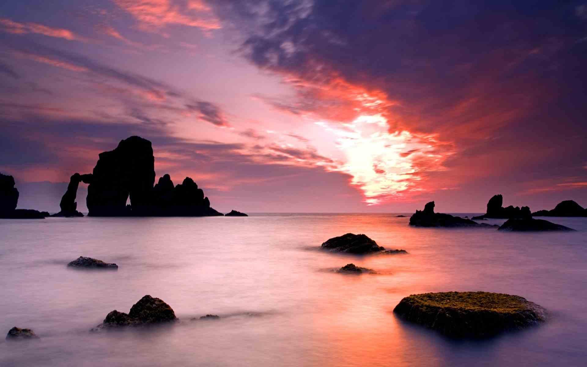 Pink Sunset Wallpaper Hd Wallpapersafari