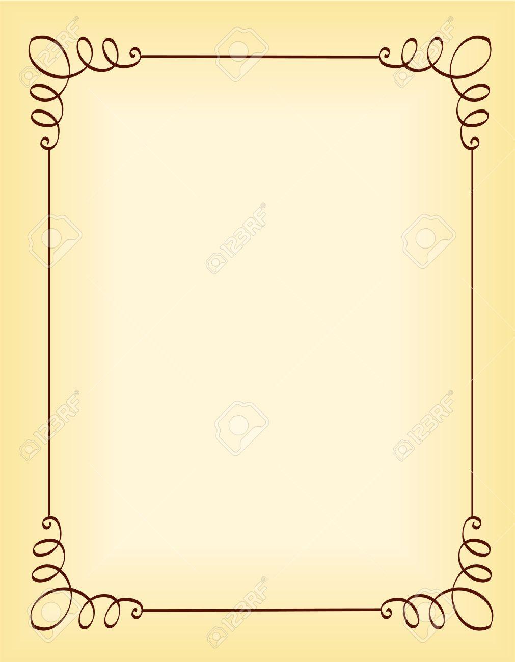 Unique Ornamental Border Frame For Party Invitation Backgrounds 1011x1300
