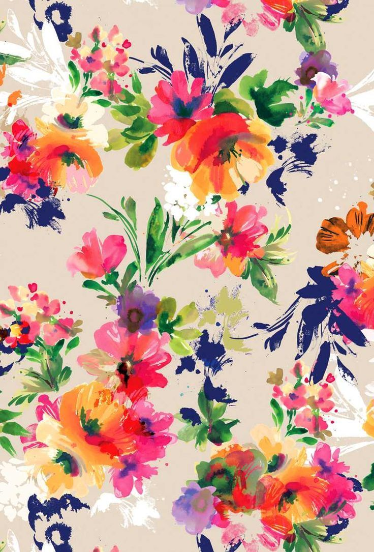 Free Download Bright Floral Print Colour Style Printy Pinterest