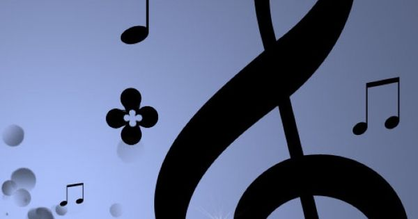 Deep bluepurple music note background Iphone 5 wallpapers and 600x315
