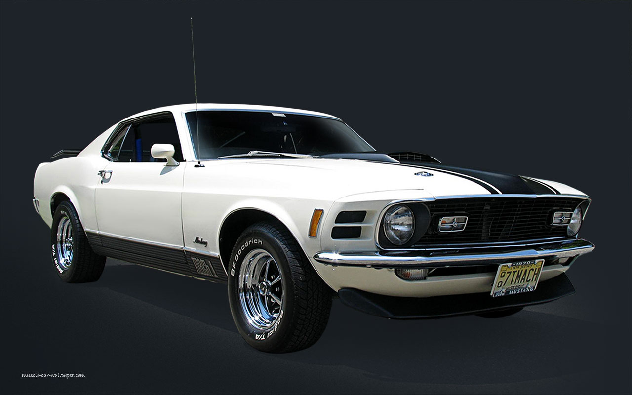 1970 Mustang Mach1 Wallpaper   White Fastback 1280x800 07 1280x800