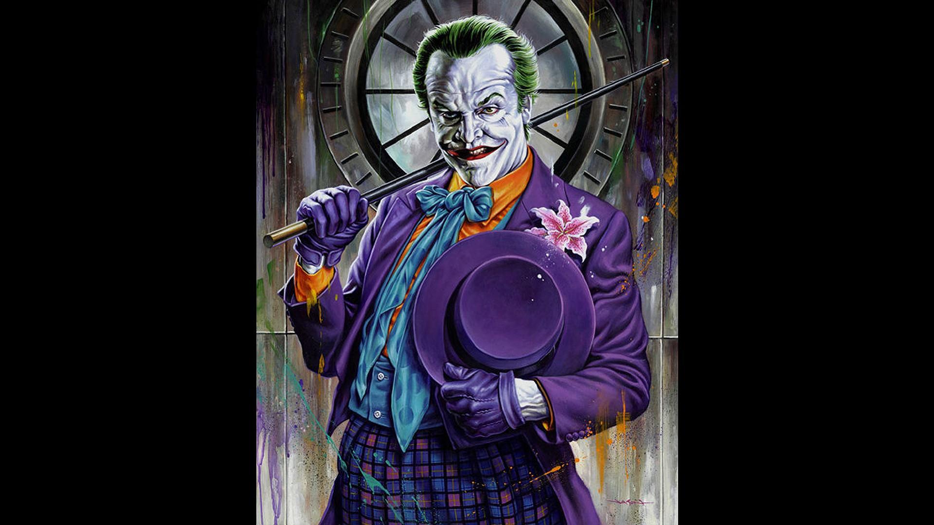 batman movies the joker jack nicholson fan art black background 1920x1080