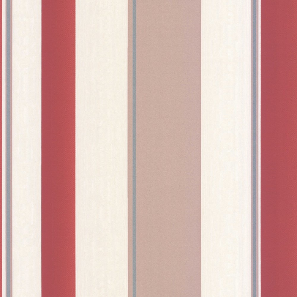 Striped Wallpaper Red Taupe Cream   Erismann from I love wallpaper 1000x1000