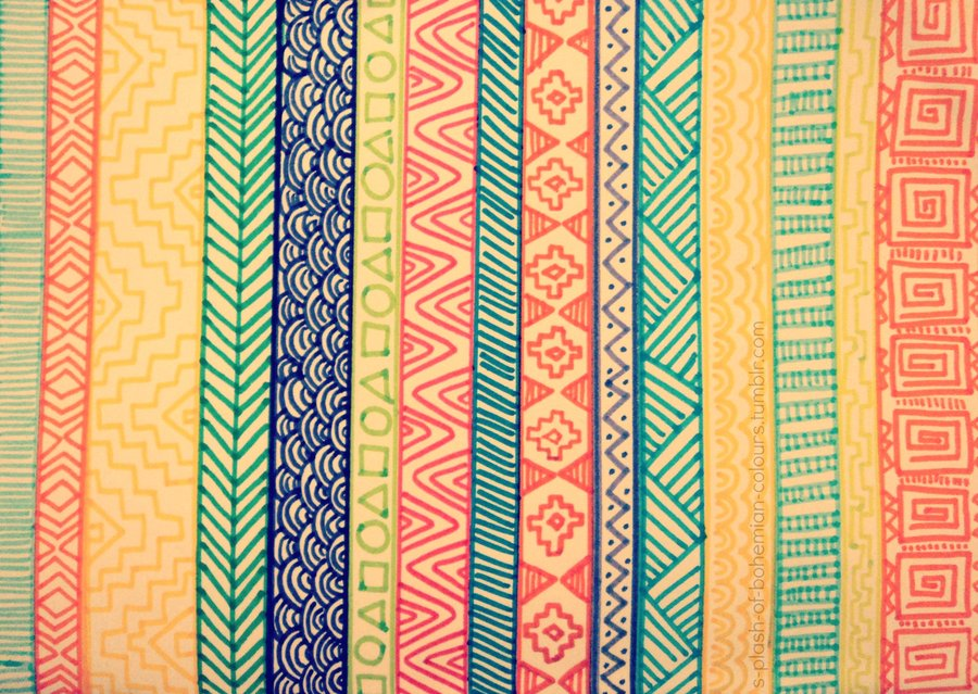 Aztec Tribal pattern by AKittyE 900x639