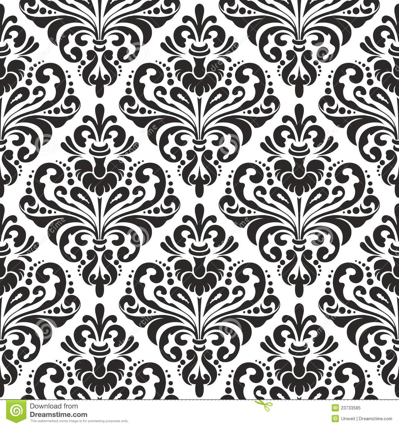 Black White Damask Wallpaper Release date Specs Review Redesign 1300x1390