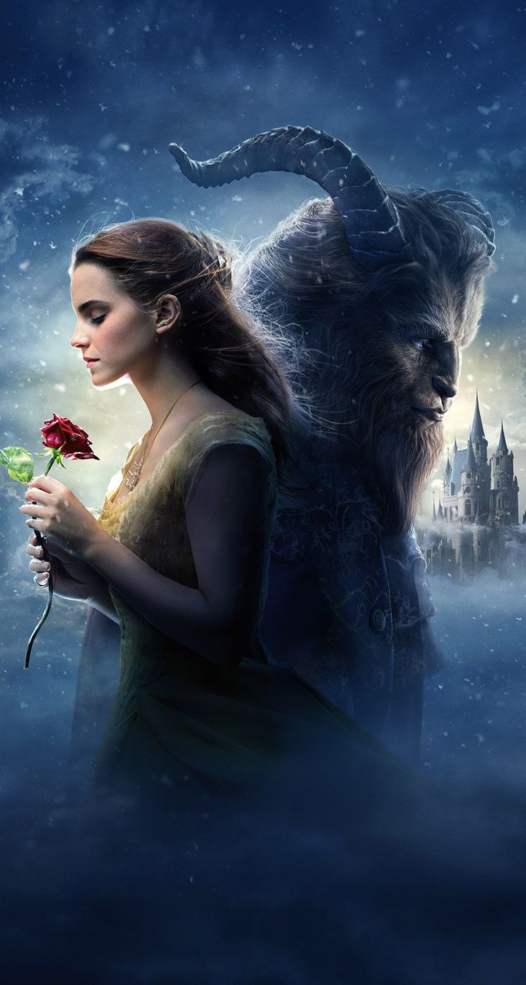 Disney the beauty and the beast wallpaper for iphone with Emma 744x1392