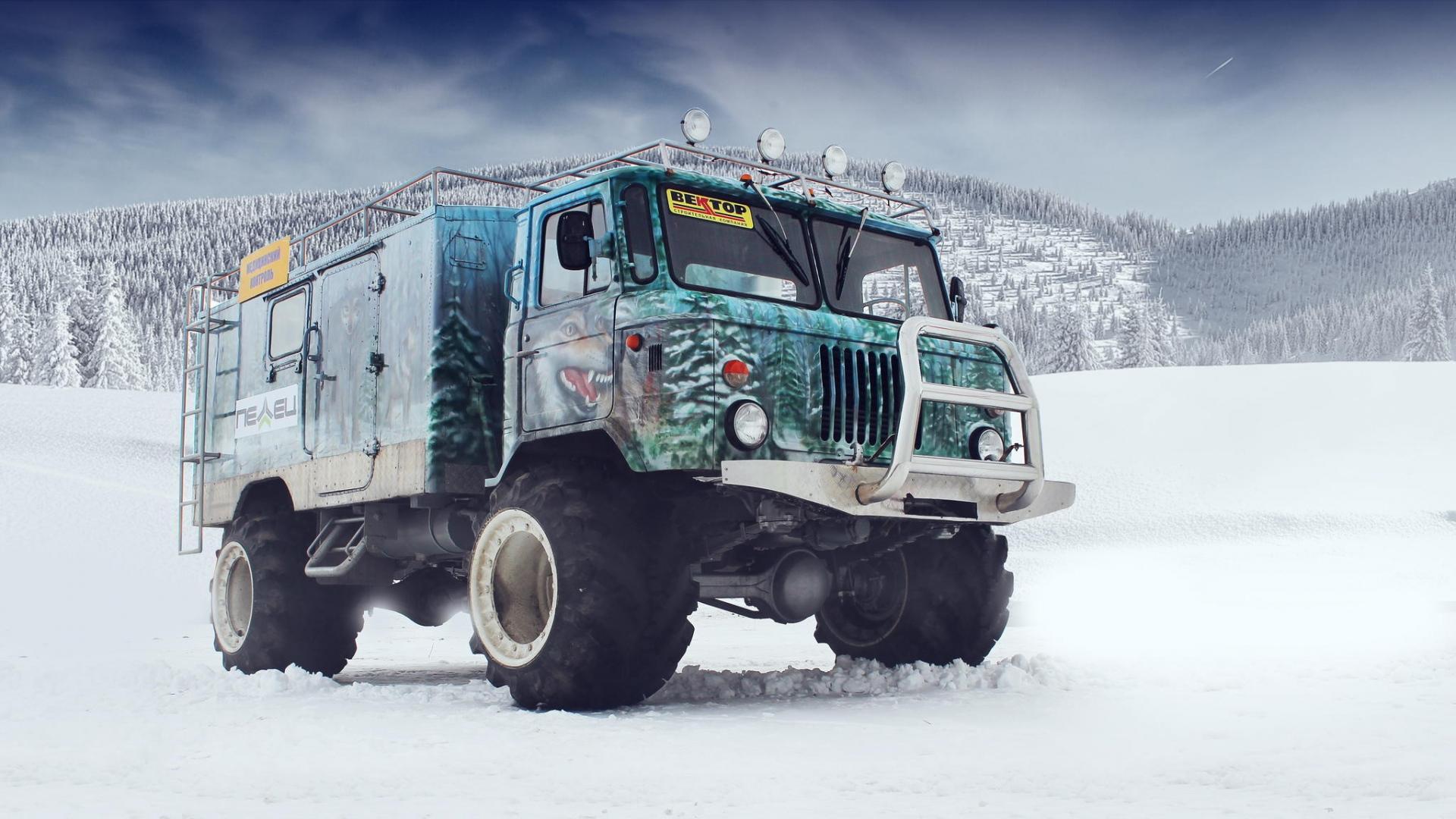 Download 1920x1080 HD Wallpaper gaz taiga off road tuning truck 1920x1080