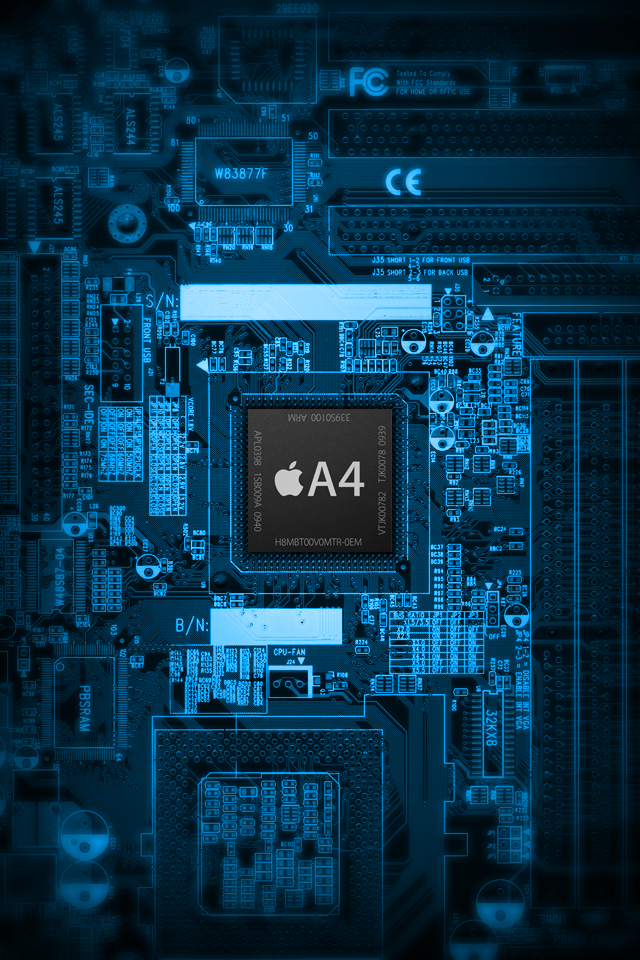 Iphone 4s Wallpaper iPhone 4S Chip 640x960