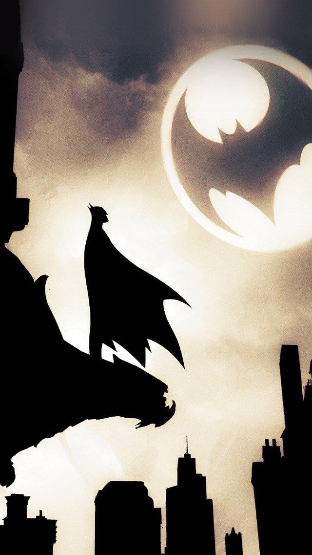 lonly batman by detective comics   parallax HD iPhone iPad wallpaper 640x1136