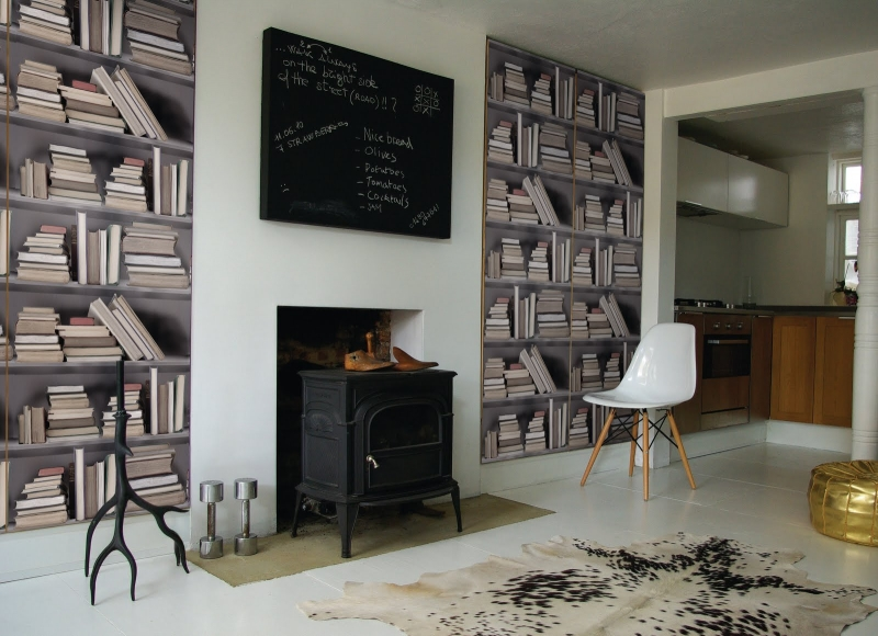 Trompe l oeil dimension to your decor the wallpaper is made in england 800x580