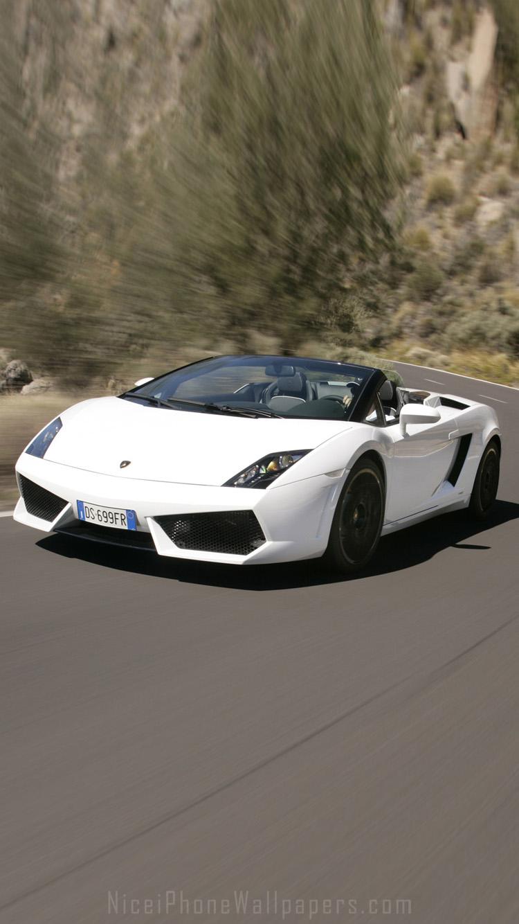 White Lamborghini Gallardo iPhone 66 plus wallpaper and background 750x1334