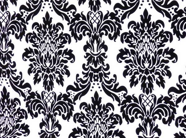 Wallpaper Velvet Flocked Wallpaper Design With Color Black And White 600x445