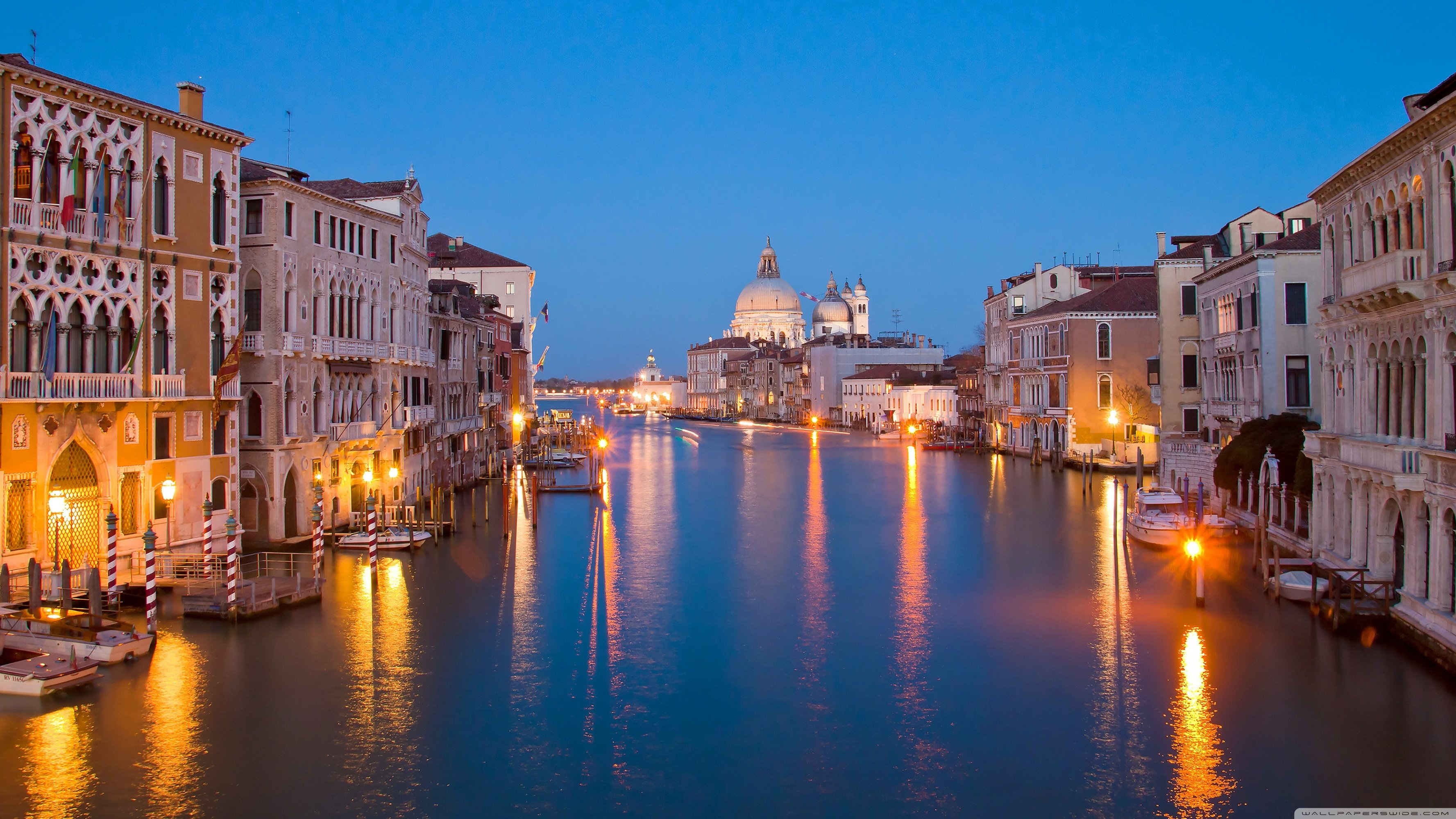 Venice At Night HD Wallpaper Background Images 3554x1999