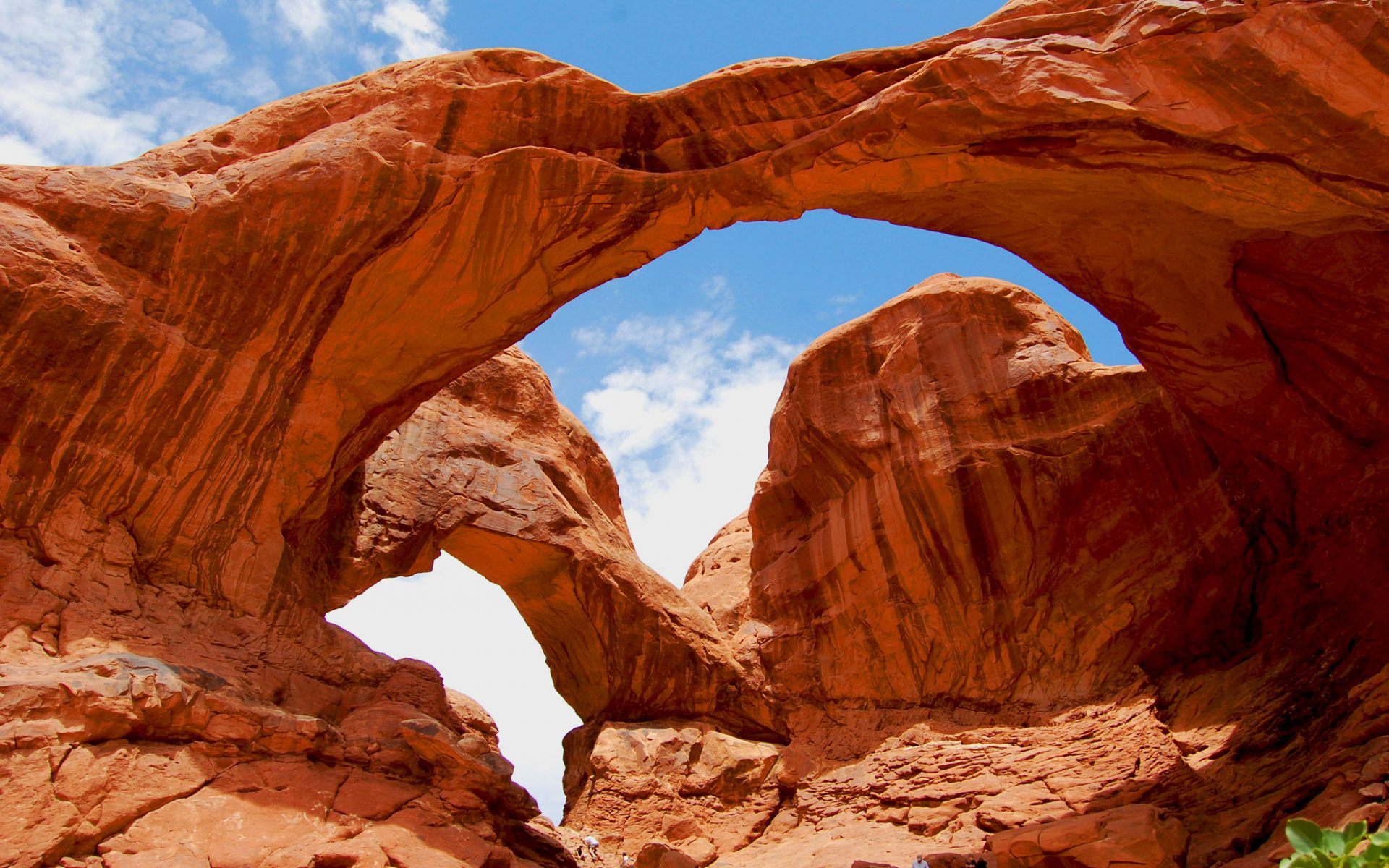 Double Arch National Park in Moab Utah USA Desktop HD 1920x1200