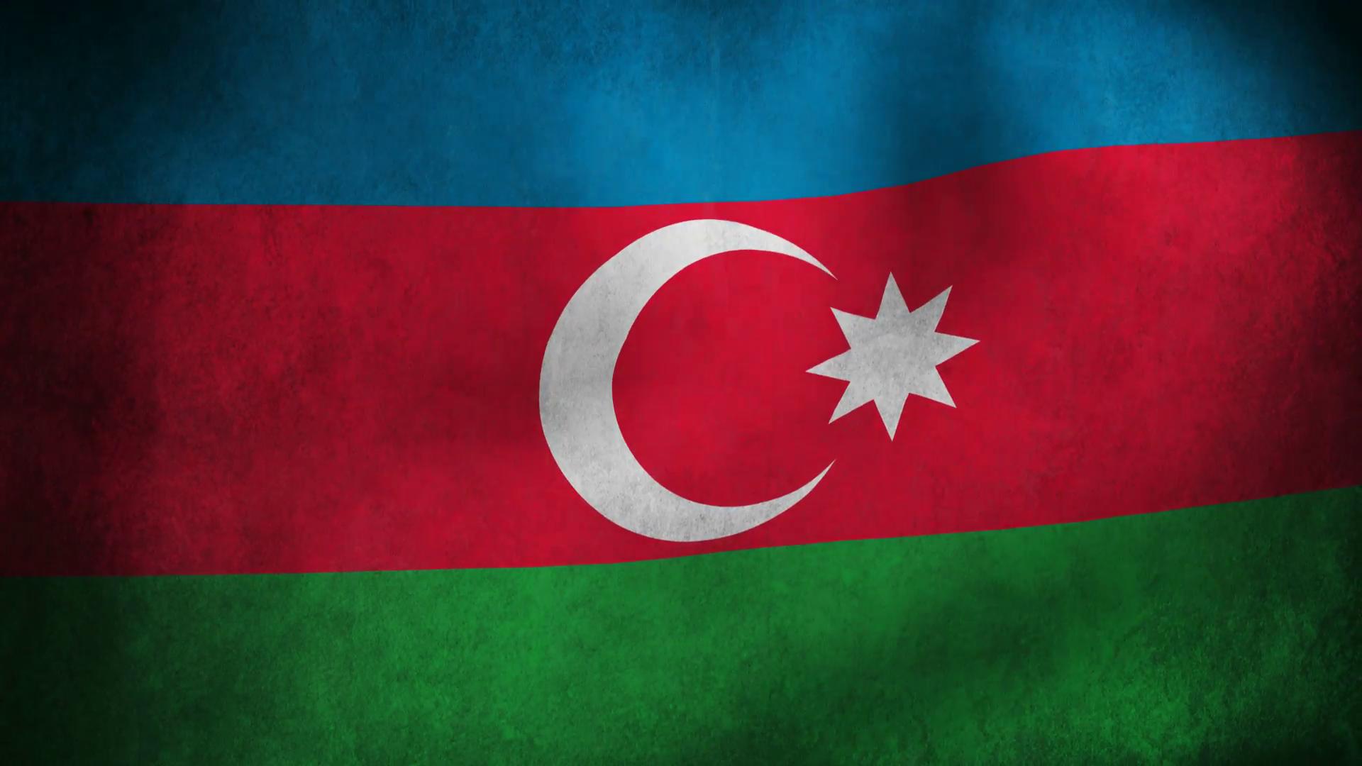 Animation Of Azerbaijan Country Flag Motion Background 1920x1080