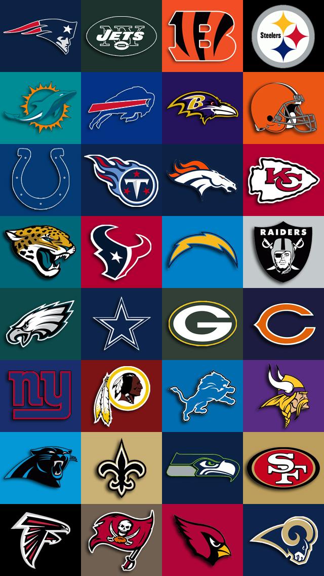 iPhone 5 Wallpaper Sports nfl team logos 640x1136