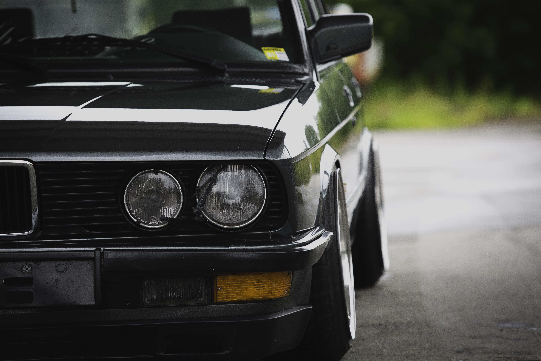 Black BMW sedan BMW E28 Stance Stanceworks Problemsolver HD 5760x3840