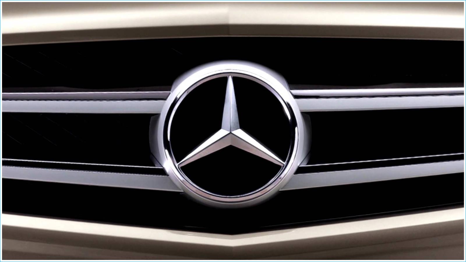 Le logo Mercedes Benz Les marques de voitures 1600x900