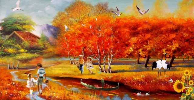 Beauty TV western style painting wallpaper background wallpaper the 640x333