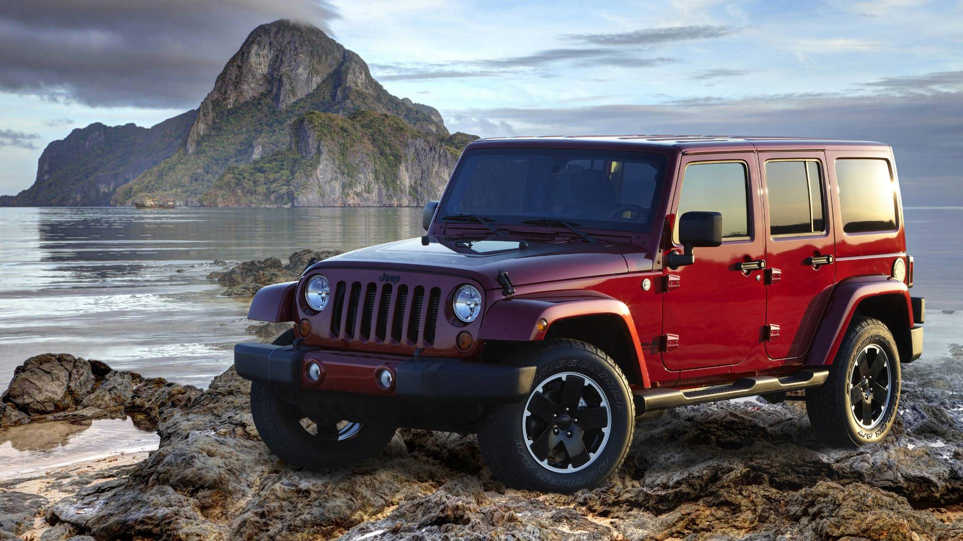 2012 Red Jeep Wrangler HD Wallpapers 1920x1080
