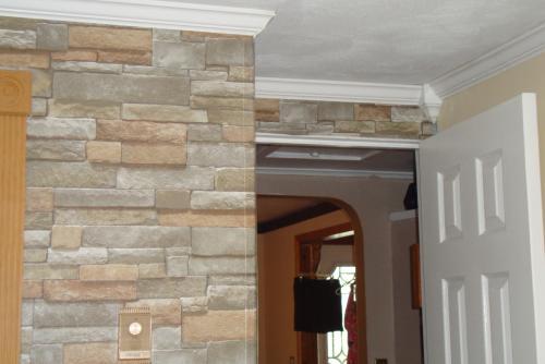 wallpaper company 56 sq ft brown earth tone stone wallpaper reviews 500x334