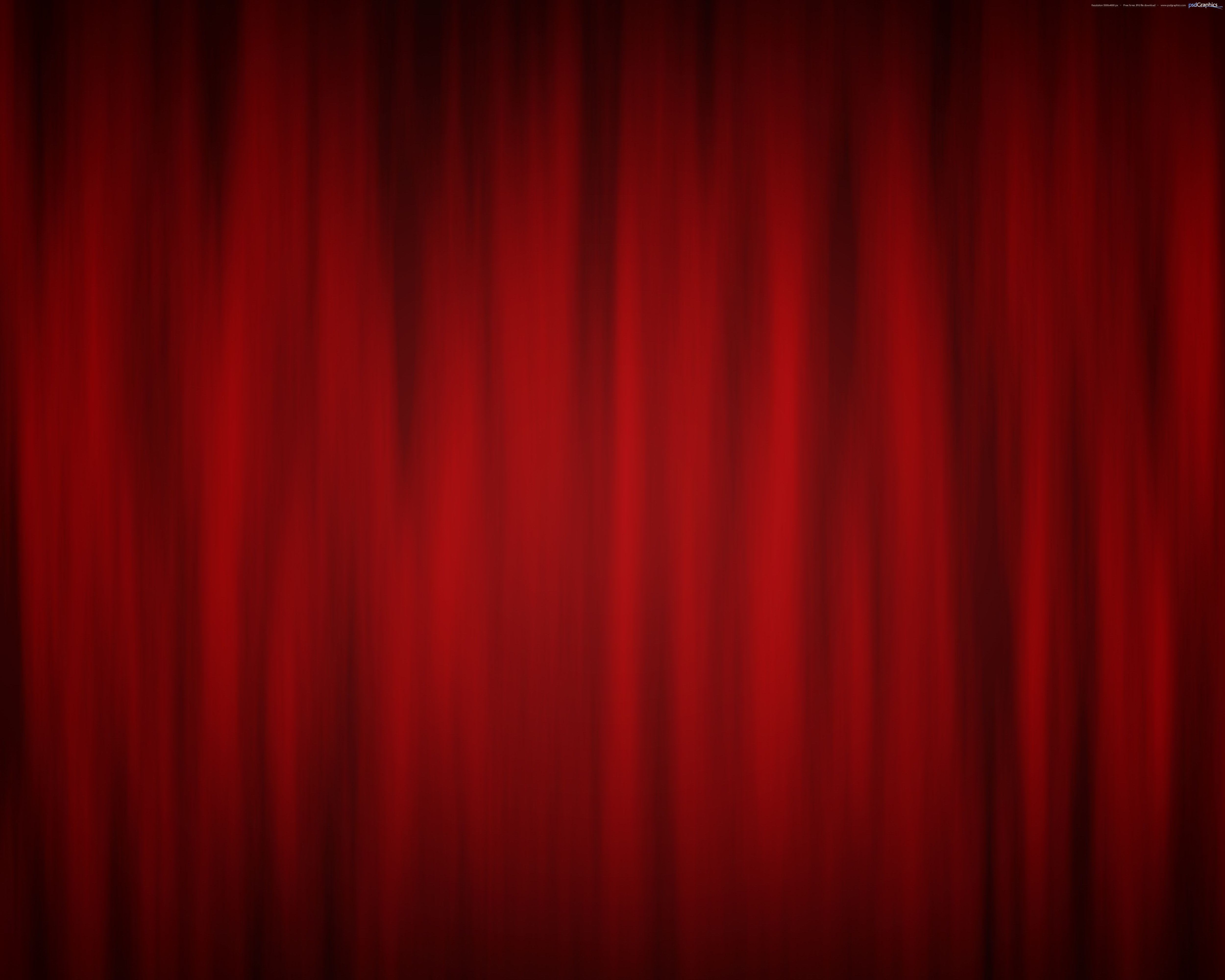 Red curtain background theatre stage PSDGraphics 5000x4000