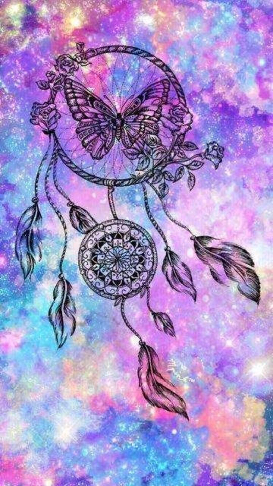 Butterfly Dreamcatcher Wallpaper   Dream Catcher 54240   HD 1080x1920