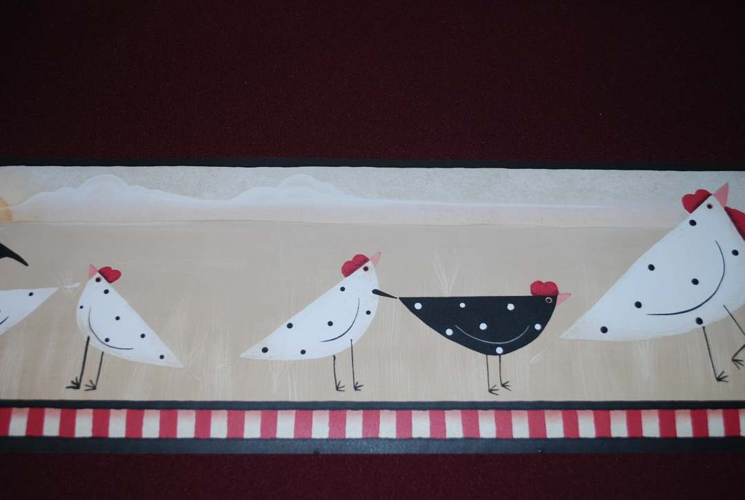 black border at the top with a black and rooster red striped bottom 1080x725