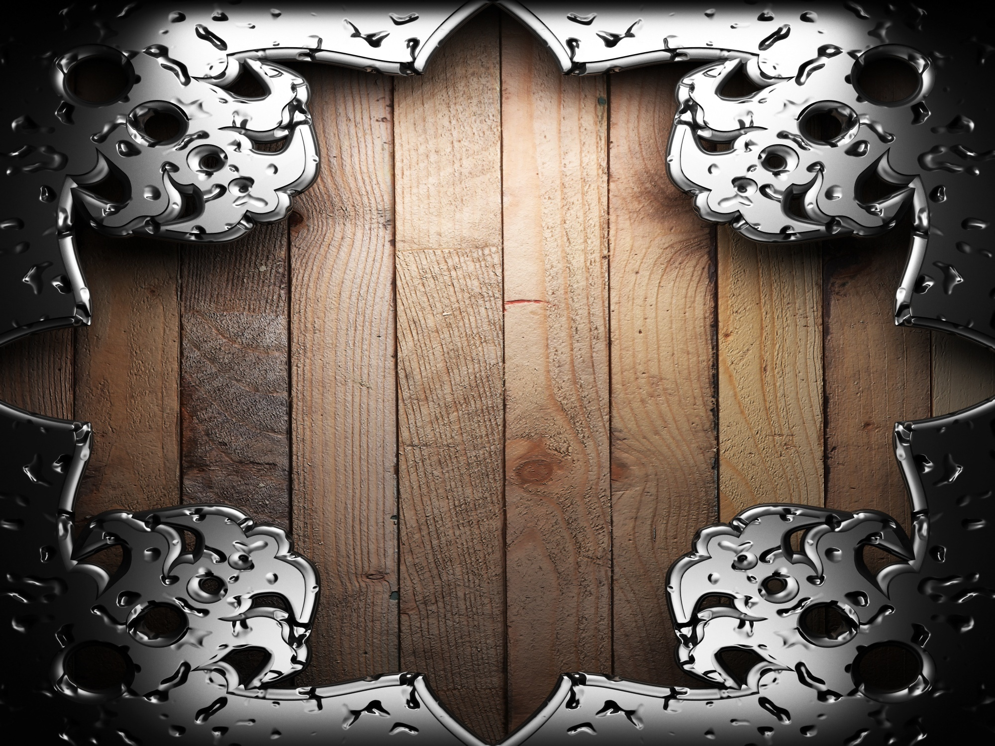 Bokeh wood metal abstract border wallpaper 2000x1500 46033 2000x1500
